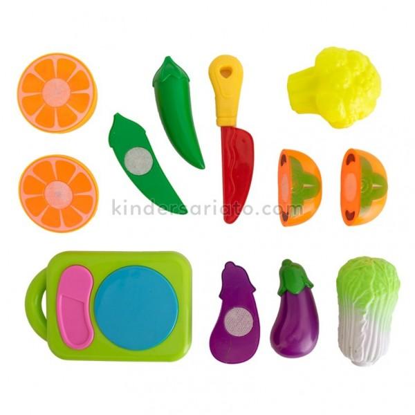 Set de frutas por mitades (12 piezas)