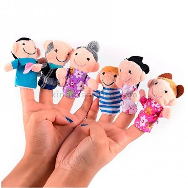 Títeres de dedo - La familia (6 piezas)