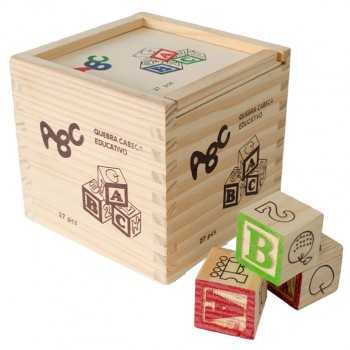 Caja ABC relieve cubos (27...