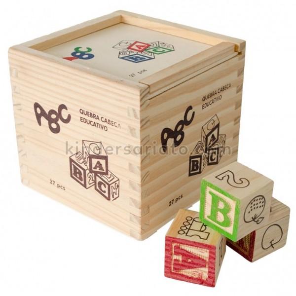 Caja ABC relieve cubos (27 piezas)