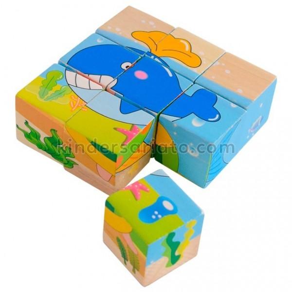 Rompecabezas en cubos (9 piezas)