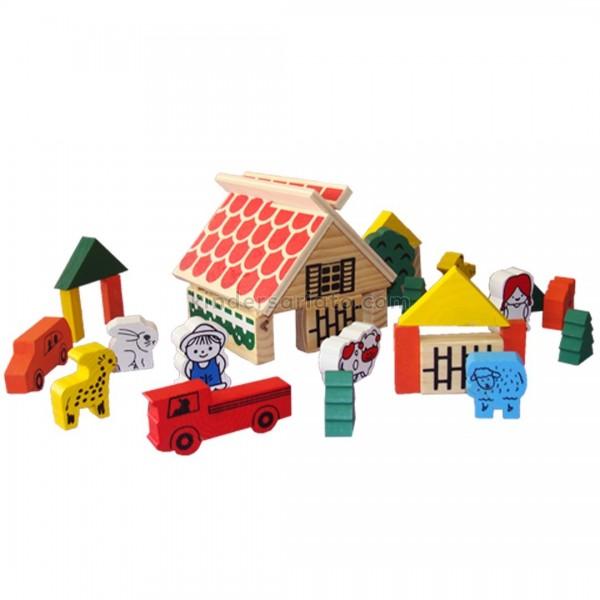 Bloques de construcción x 48 piezas (granja)