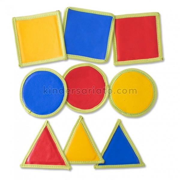 Juego de memoria con figuras geométricas (9 piezas en pareja)