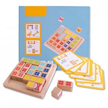 Juego de tetris en madera (con cartillas)