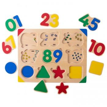 Encajable números y formas...