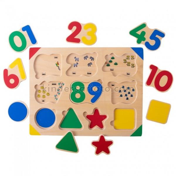 Encajable números y formas x 10 piezas