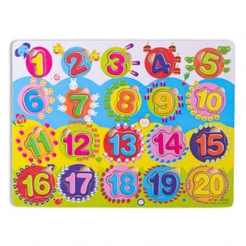 Encajable números del 1 al 20