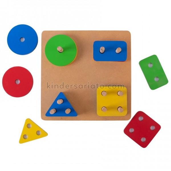Cuenta tablillas figuras geométricas (16 piezas)