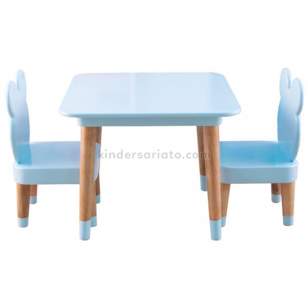 Mesa osito con 2 Sillas (3 piezas)