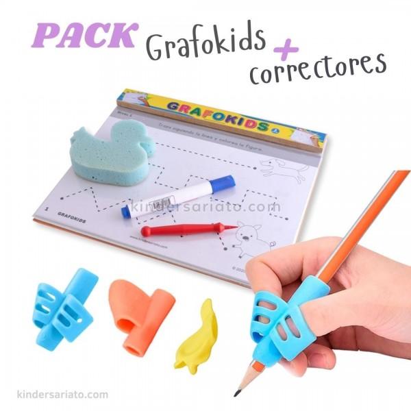 Tablero Grafokids + Correctores de lápiz