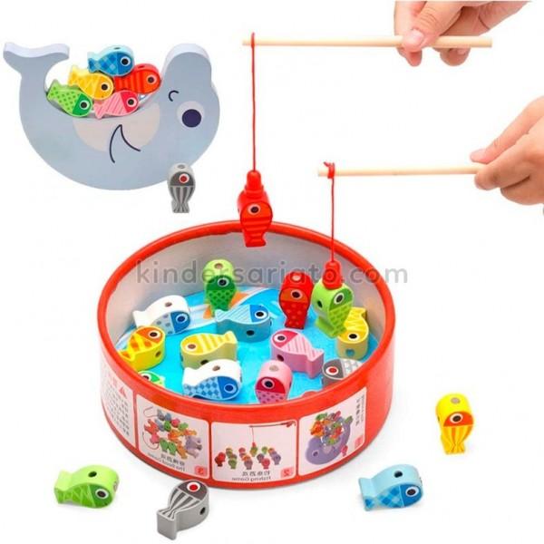 Juego de pesca magnetico 3D (Three ways of fishing game)