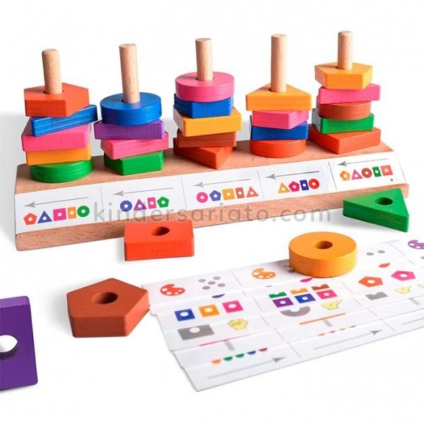 Juego de razonamiento con tarjetas (Block matching puzzle)