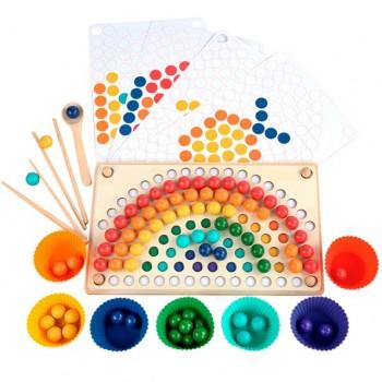Tablero Montessori arcoíris...