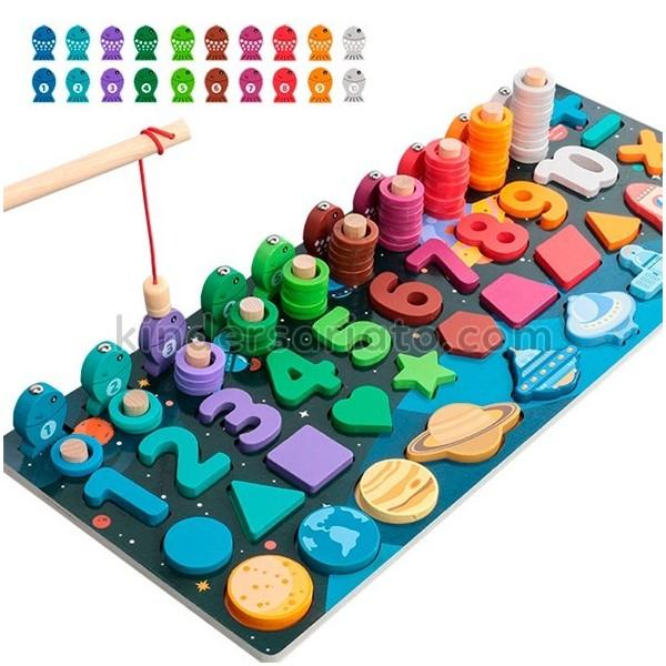 Tablero Montessori escalera de peces (Universo)