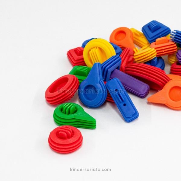 Lego Figuras Curvas Ranuradas (43 piezas)