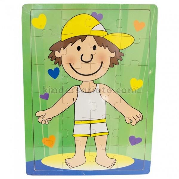 Rompecabezas de niño con pijama (24 piezas)