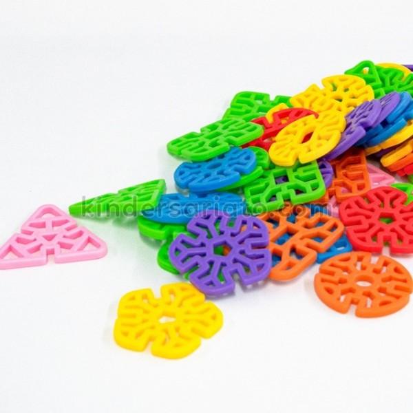 Lego figuras geométricas ranuradas (56 piezas)